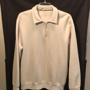 Croft and Barrow men's cream colored pullover XL